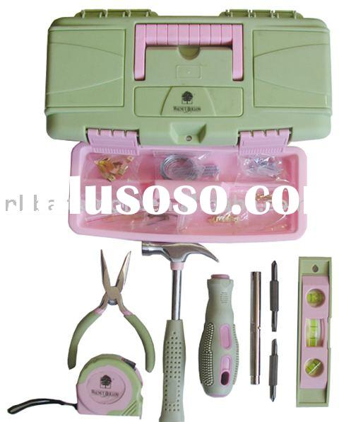 28pc Pinky Lady's Hand Tool Set Case