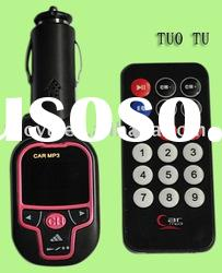 2GB Pink Remote Control LCD Display Car MP3 with FM Transmitter