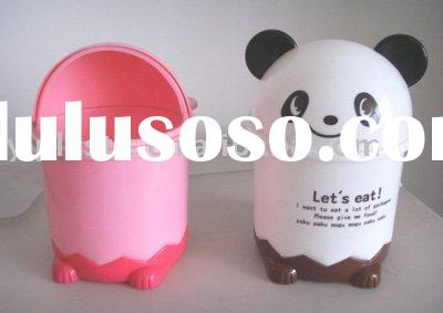 2.5L small plastic animal head dustbin