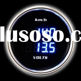 60mm Motorcycle Speedometer & Volt Auto Gauge White LED (Auto Meter) - Digital