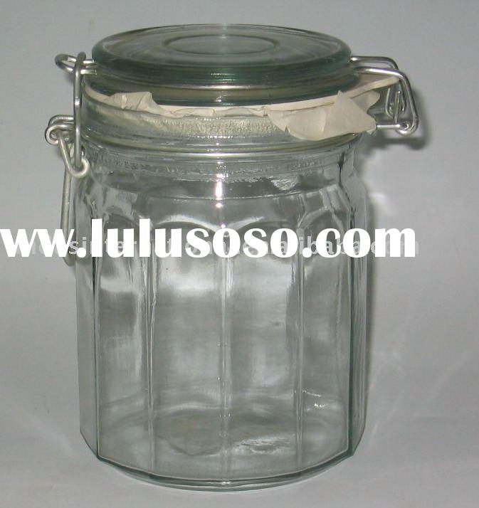 750ML glass seal bottle/glass jar/glass container/glassware
