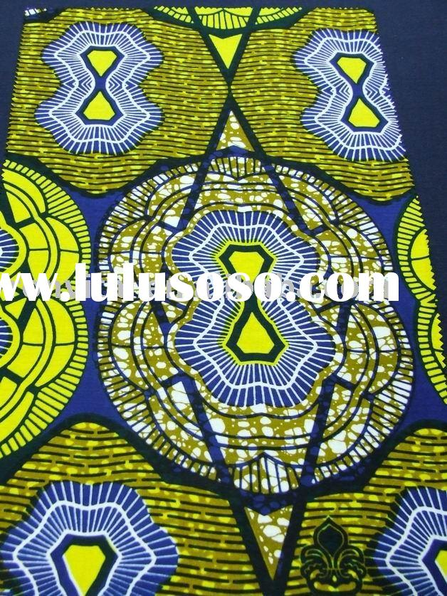 African skull BLOCK print cotton fabric(R1002)