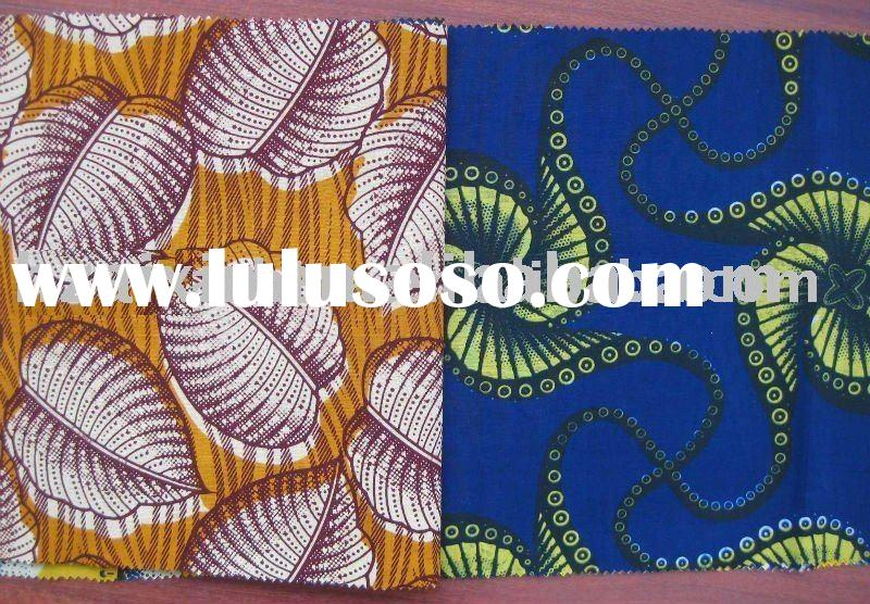 C% Real Wax Fabric African printed holland wax Plain printing