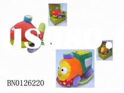 Cartoon baby toy,Plush Plane/Train,Stuffed toy vehicle