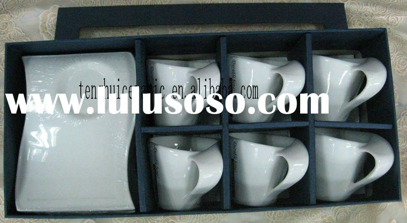 Ceramic Coffee Mug TH3186 Porcelain coffee Cup and Saucer Set