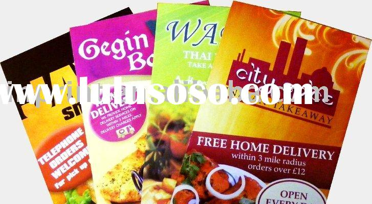 Cheap Chinese Menu printing (main Print menu Colour Offset Printing)