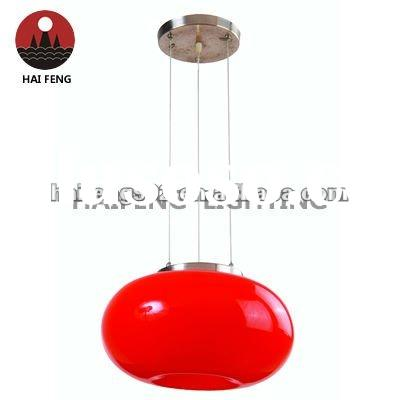 Decorative pendant lamp red hanging light HF-MD3820/1