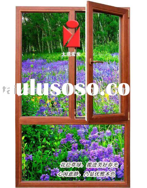 FRP Brownish Red open inside Casement Window Frame