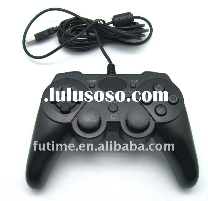 For PS3/PC USB WIRED 6axis dualshock controller/ joypad/ joystick/ game pad with vibration -- FTQ6B2