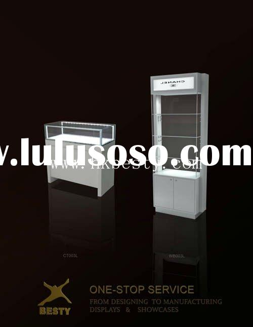 Glossy white jewelry shop display showcase and cabinet for retail (expecially for silver)