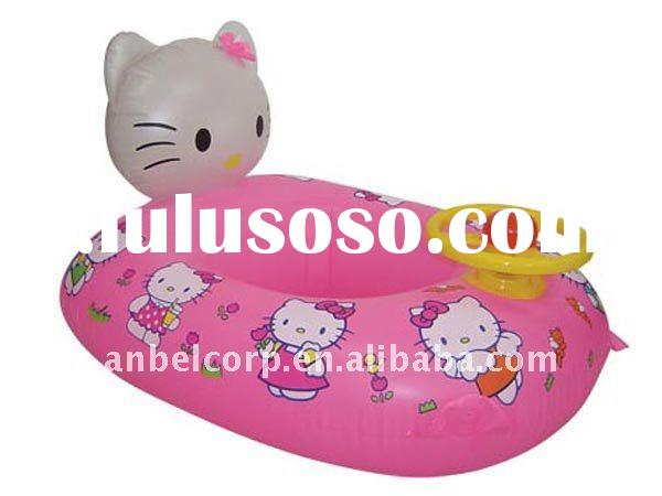 Hello Kitty inflatable baby float boat /cute baby water seat