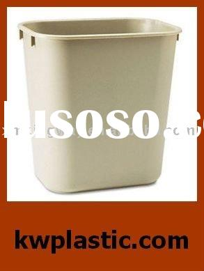 Injection Molding Parts/Molded Plastic Wastebasket