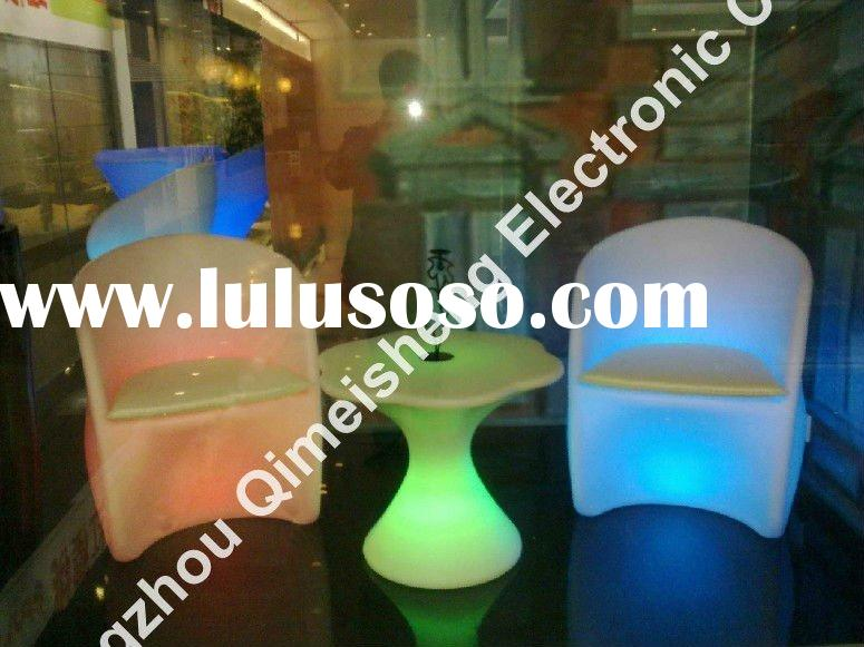 LED bright bar chair and table furniture/LED livingroom table and chair/LED outdoor furniture