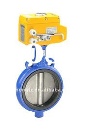 Lining Fluorine Butterfly Valve with electric actuator