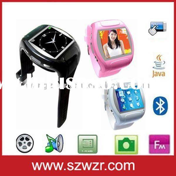 "MQ007 Quad-band watch mobile phone with bluetooth, Camera and 1.5""touch screen"
