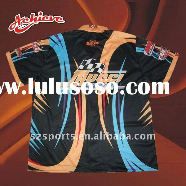 Men's customized racing apparel with sublimation printing