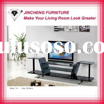 Module# TV11 living room lEd tv stand glass furniture