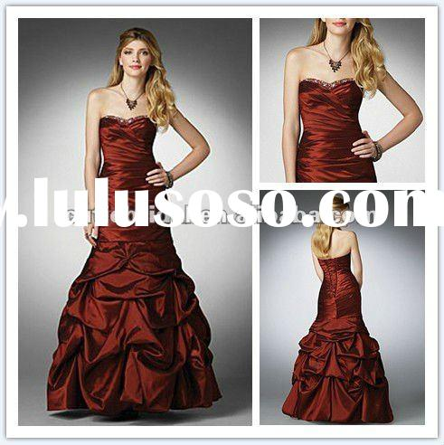 New Arrival Elegant Dark Red Ball Gown Prom Dress AL040
