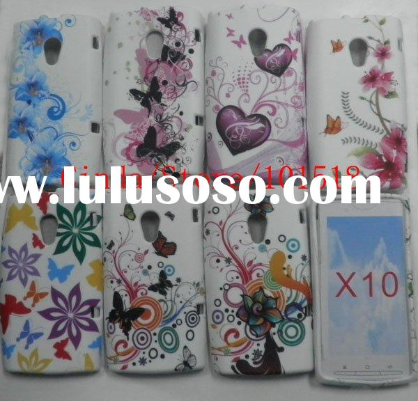New Flower TPU Case Cover For Sony Ericsson Xperia X10 , Accept Paypal