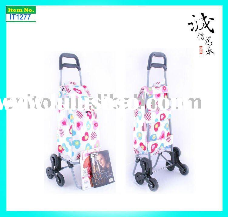 OEM Collapsible Folding 2 wheels Reusable Grocery Laundry Supermarket Shopping Trolley Cart Bag