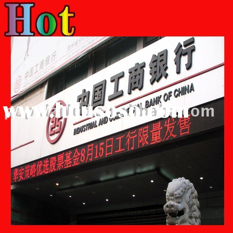 P10 outdoor single red led signs display