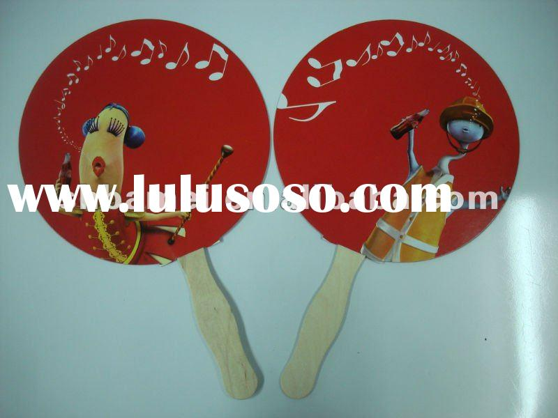 Paper hand Fan with wood handle