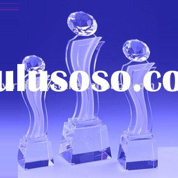 Personality Optical Crystal Diamond Peak Tower Award Trophy