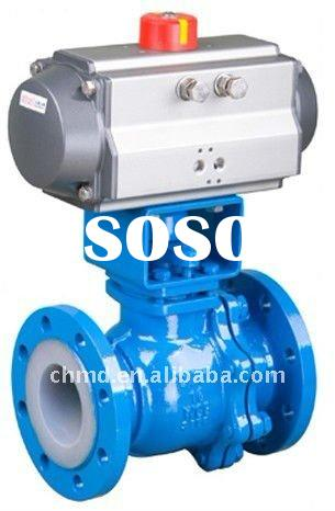 Pnematic Actuator Cast Steel Teflon Ball Valve