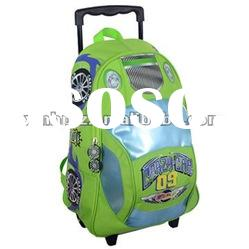 R fancy fashion kids school bag with wheels backpack