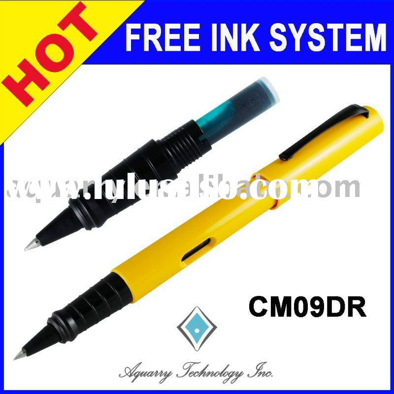 Refillable CM09DR Solid Series Plastic Free Ink Cartridge Rollerball Pen