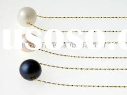 Simple solid 14K yellow gold chain with one pearl necklace fashion freshwater pearl necklace EN11