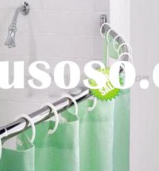 Stainless steel curved shower curtain rod