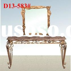 Table garden of outdoor stone top dining tables with mirror (D13#-583#)