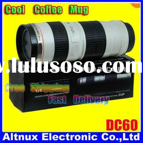 Travel Coffee Mug/lens Cup/thermos Shape of Camera 70-200mm Camera Lens Cup DC60