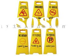 Wet floor sign/floor sign/caution sign/plastic floor sign/plastic road floor sign/road sign