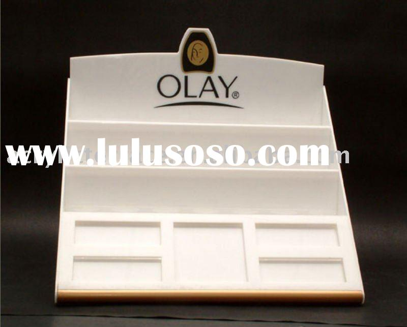 White Acrylic Makeup Display Stand
