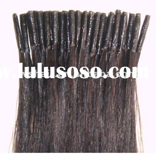 Wholesale Pre-bonded hair extension,Top quality I tip hair extension made from Indian temple hair