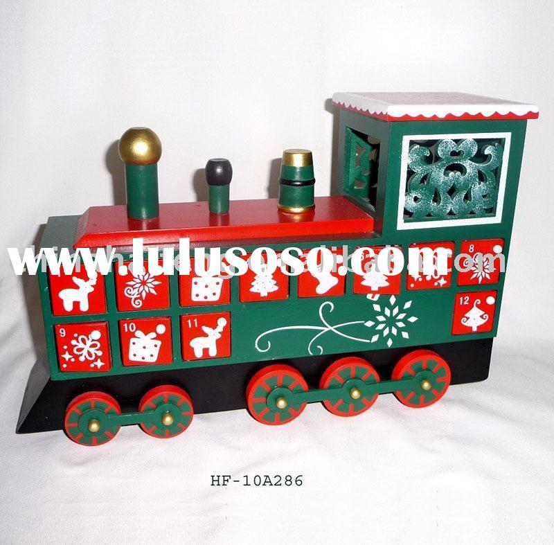 Wooden Train Advent Calendar, Christmas Gift