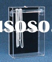 acrylic necklace showcase, acrylic jewelry display box, acrylic counter display box, acrylic tableto