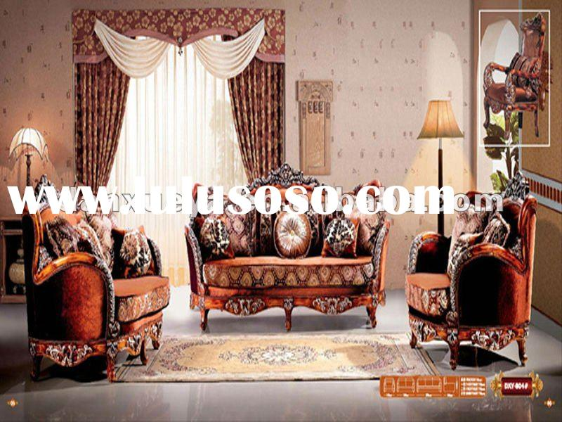 antique style sofa set &craved solid wood fabric sofa & furniture set 804#