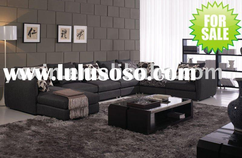 big black fabric sofa