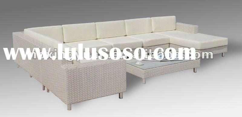cheap rattan sectional living room furniture sofa