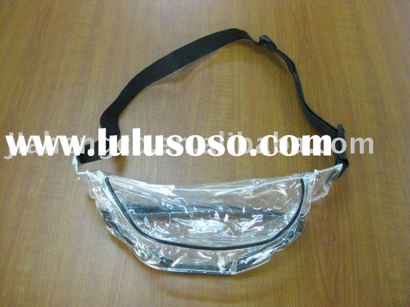 clear pvc crossbody bag with zipper