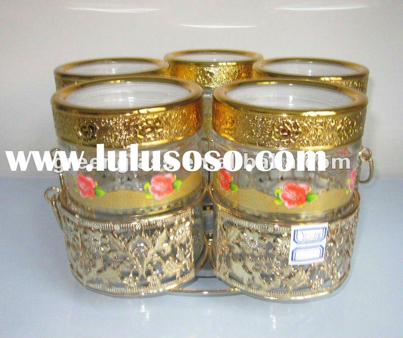 decorative glass jars and lids