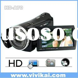 excellent video camcorder,professional video camera with full HD1080P&5X optical zoom&&3