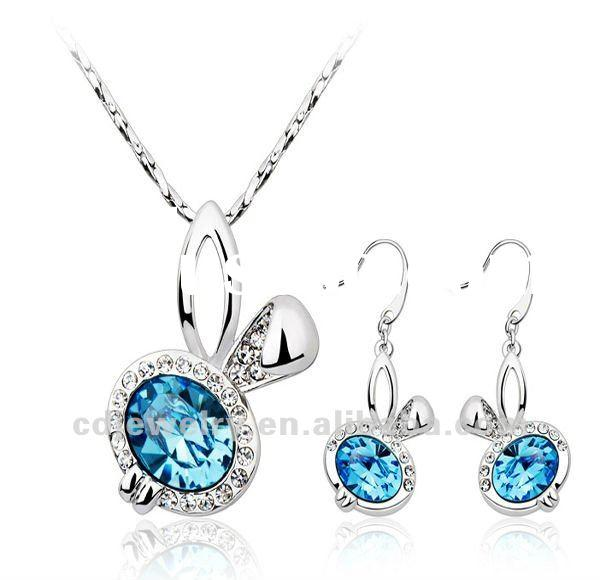 fashion jewelry set with crystal