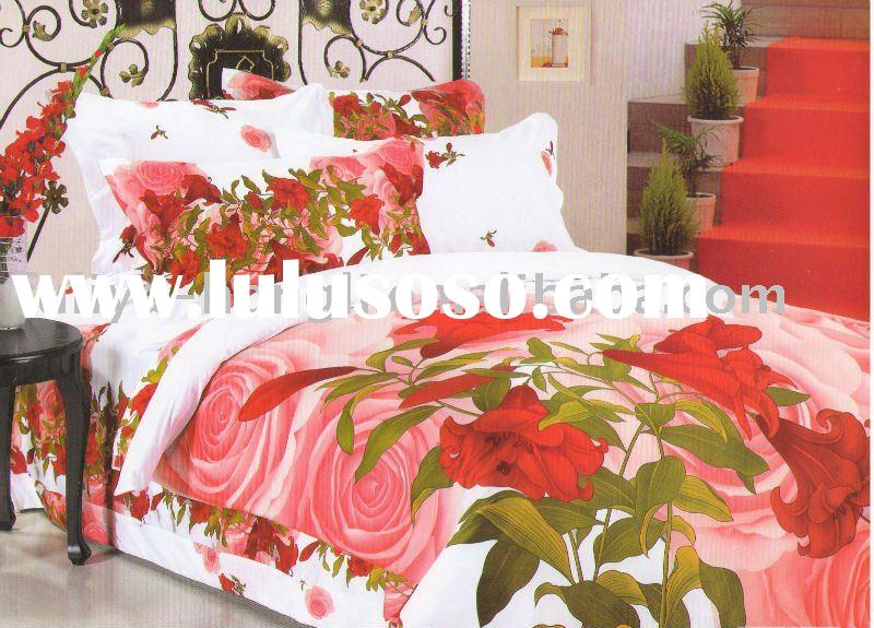 floral printing cotton duvet cover set