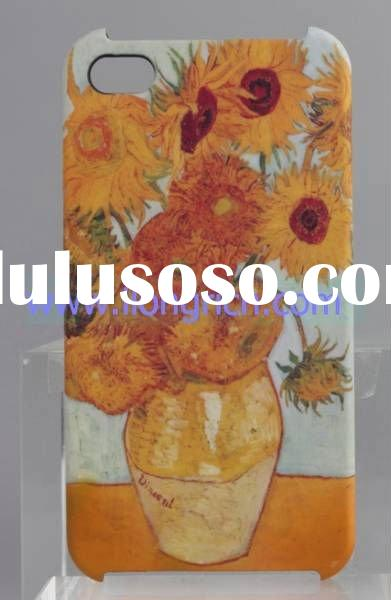 for iPhone 4 plastic Cases new fashion sunflower Van Gogh