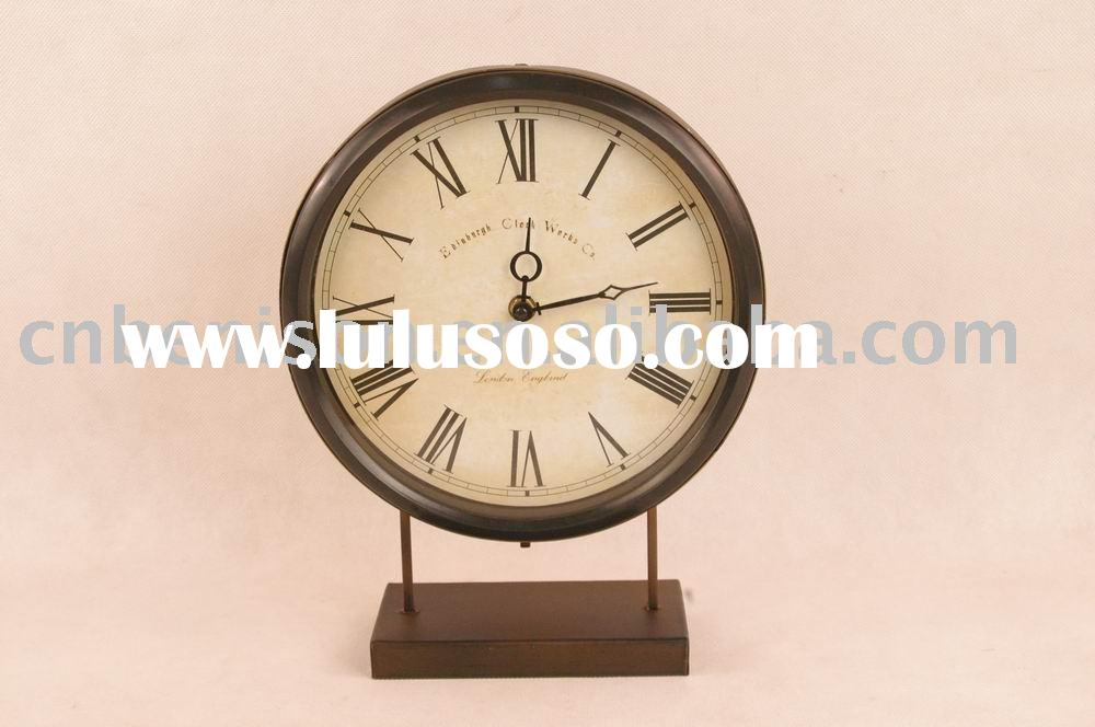 metal table clock by crafts