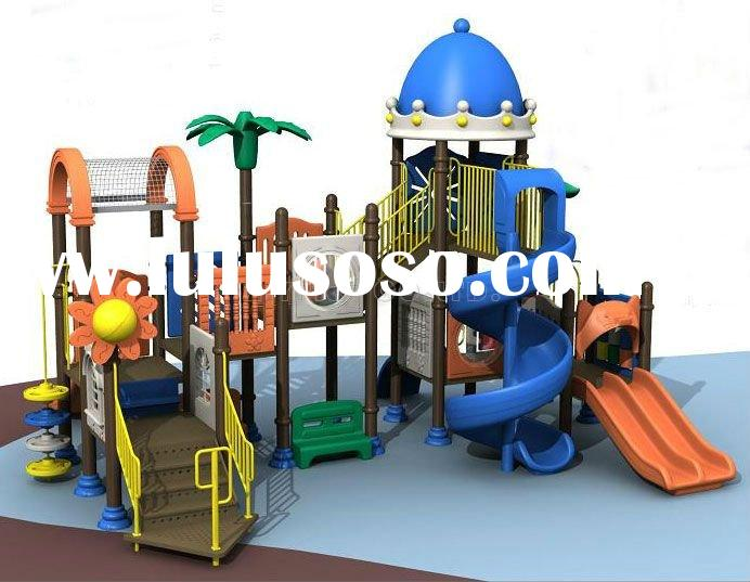 outdoor kids plastic castle and slide